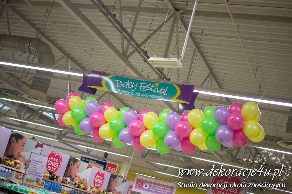 Dekoracja balonowa dla marki Pampers