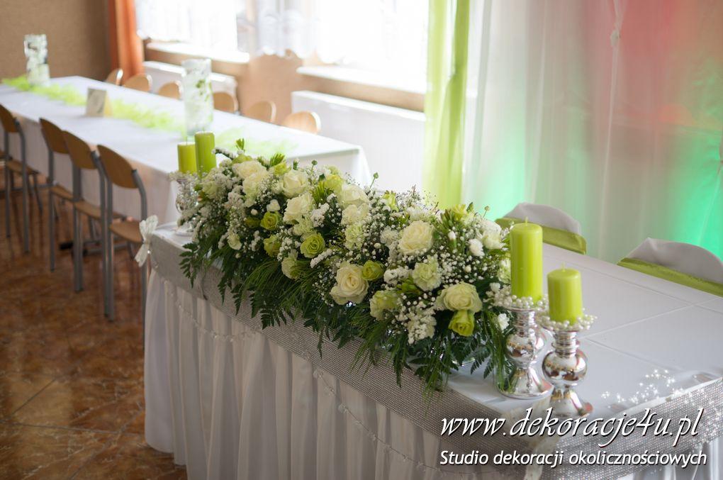 Dekoracja sali weselnej w Rudnej Malej