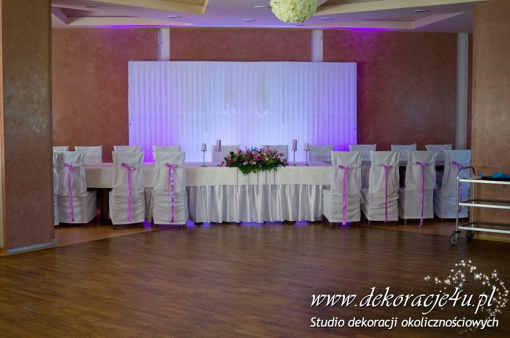 Dekoracja sali weselnej w Lesku Hotel Gawra