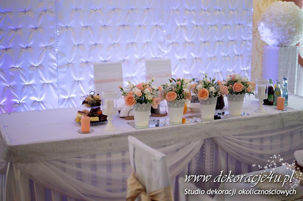 Dekoracja sali weselnej w Markowej Malinowa Weranda