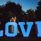 Napis LOVE na ślub i wesele